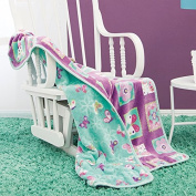LIMITED EDITION BUTTERFLY FLORAL REVERSIBLE BABY BLANKET