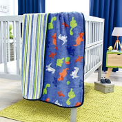 LIMITED EDITION DINOSAURS REVERSIBLE BABY BLANKET