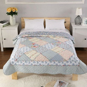 Luckey1 Patchwork Quilt 150cm x 200cm Full Size for Kids, Cotton Quilt Christmas Gift for Kids