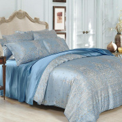 GOUGOU silk Four sets of home textiles Mulberry silk Four bed linen 1.8 m bed 2.0 m beds , blue , 1.8m