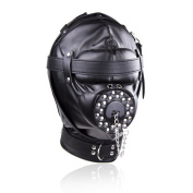 Chodx Fetish Hood Mask with Openings for mouth
