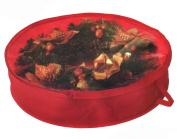 80cm Wreath Storage Case Portable Organiser Zipper Box Bin Christmas Holiday