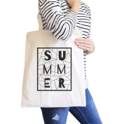 365 Printing Summer Geometric All-Purpose Heavy Cotton Natural Canvas Tote Bag