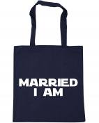 HippoWarehouse Married I Am Tote Shopping Gym Beach Bag 42cm x38cm, 10 litres