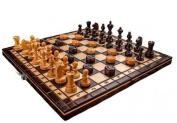 Hand Crafted Wooden Chess Set Solid Robust Heavy High Gloss Board Game Cherry