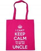 HippoWarehouse I Can't Keep Calm I'm Going to be an Uncle Tote Shopping Gym Beach Bag 42cm x38cm, 10 litres