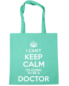 HippoWarehouse I Can't Keep Calm I'm Going to be a Doctor Tote Shopping Gym Beach Bag 42cm x38cm, 10 litres