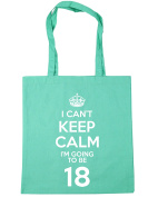 HippoWarehouse I Can't Keep Calm I'm Going to be 18 Tote Shopping Gym Beach Bag 42cm x38cm, 10 litres