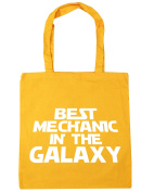 HippoWarehouse Best Mechanic in the Galaxy Tote Shopping Gym Beach Bag 42cm x38cm, 10 litres