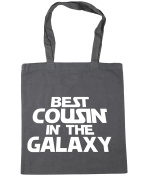 HippoWarehouse Best Cousin in the Galaxy Tote Shopping Gym Beach Bag 42cm x38cm, 10 litres