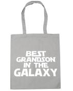 HippoWarehouse Best Grandson in the Galaxy Tote Shopping Gym Beach Bag 42cm x38cm, 10 litres