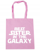 HippoWarehouse Best Sister in the Galaxy Tote Shopping Gym Beach Bag 42cm x38cm, 10 litres