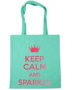 HippoWarehouse Keep Calm and Sparkle Tote Shopping Gym Beach Bag 42cm x38cm, 10 litres