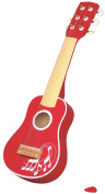 Lelin Children Kids Wooden Red Guitar Musical Instrument Toy