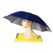 60cm Diameter Elastic Headband Fishing Umbrella Hat Sun Rain Hat