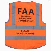 "MYRIANN DJI Drone Safety Reflective Vest,Cool Cloth Vest with ""Commercial Drone Pilot Please Do Not Disturb"",Excellent Flight Experience with DJI inspire,DJI Phantom 3 4, DJI Mavic Pro"