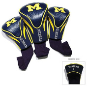 Michigan Wolverines Golf Club 3 Piece Contour Headcover Set - Licenced NCAA College Merchandise