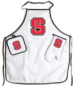 North Carolina State Wolfpack NCAA Barbeque Tailgate Set with Apron & Potholder & Glove
