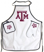 Texas A & M Aggies NCAA Barbeque Tailgate Set with Apron & Potholder & Glove