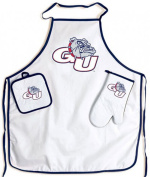 Gonzaga Bulldogs NCAA Barbeque Tailgate Set with Apron & Potholder & Glove
