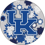 KENTUCKY WILDCATS 10cm ROUND FLORAL MAGNET-UNIVERSITY OF KENTUCKY MAGNET-NEW FOR 2016