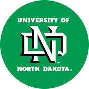 North Dakota Fighting Sioux RR 10cm Round Vinyl Magnet Auto Home University of