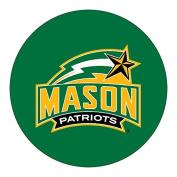 George Mason Patriots RR 10cm Round Vinyl Magnet Auto Home University of