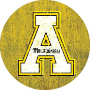 APPALACHIAN STATE MOUNTAINEERS 10cm ROUND VINTAGE DESIGN DECAL-APPALACHIAN STATE 10cm STICKER DECAL