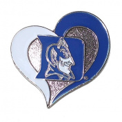 Duke Blue Devils Lapel Pin Heart Shaped with Team Logo NCAA Licenced