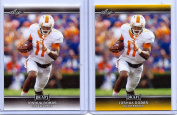 (2) JOSHUA DOBBS 2017 LEAF draught GOLD PARALLEL ROOKIE CARD LOT! PITTSBURGH STEELERS!