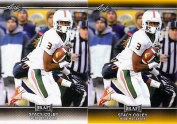 """(2) STACY COLEY 2017 LEAF draught GOLD PARALLEL """"2"""" CARD ROOKIE LOT! MINNESOTA VIKINGS!"""