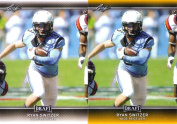 (2) RYAN SWITZER 2017 LEAF draught GOLD PARALLEL ROOKIE CARD LOT! DALLAS COWBOYS!