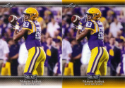 """(2) TRAVIN DURAL 2017 LEAF draught GOLD PARALLEL """"2"""" CARD ROOKIE LOT! NEW ORLEANS SAINTS!"""