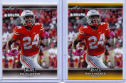 (2) MALIK HOOKER 2017 LEAF draught GOLD PARALLEL ROOKIE CARD LOT! COLTS/OHIO STATE BUCKEYES!