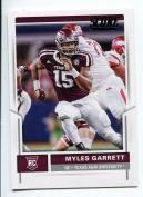 """MYLES GARRETT 5120cm 1ST EVER PRINTED"""" SCORE PANINI ROOKIE CARD! TEXAS A & M AGGIES!"""