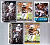 """(5) D""""ONTA FOREMAN 5120cm - 5120cm 1ST EVER PRINTED"""" SPORTS ILLUSTRATED 5 CARD ROOKIE LOT! OKLAHOMA SOONERS!"""