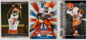 """(3) MIKE WILLIAMS 2017 LEAF draught """"3""""CARD ROOKIE LOT! CLEMSON TIGERS!"""