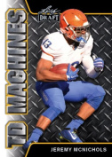 JEREMY McNICHOLS 2017 LEAF draught TD MACHINES GOLD PARALLEL ROOKIE CARD INSERT! W/H TOP LOADER!