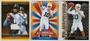 """(3) MITCH TRUBISKY 2017 LEAF draught """"1ST EVER PRINTED"""" GOLD EDITION 3 CARD ROOKIE LOT! W/H TOP LOADERS!"""