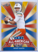 BRAD KAAYA 2017 LEAF draught ALL-AMERICAN GOLD PARALLEL ROOKIE CARD INSERT! W/H TOP LOADER!