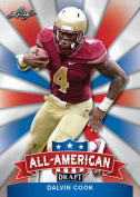 DALVIN COOK 2017 LEAF draught ALL-AMERICAN ROOKIE CARD INSERT! W/H TOP LOADER!