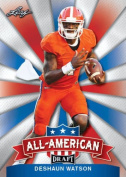 """DESHAUN WATSON 5120cm 1ST EVER PRINTED"""" LEAF draught ALL-AMERICAN ROOKIE CARD INSERT! W/H TOP LOADER!"""