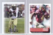 """DALVIN COOK 320cm 1ST EVER PRINTED"""" (2) CARD COLLEGE ROOKIE LOT! FLORIDA STATE SEMINOLES!"""