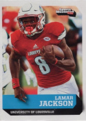 """LAMAR JACKSON 5120cm 1ST EVER PRINTED"""" SI 1 OF 9 COLLEGE ROOKIE CARD! LOUISVILLE CARDINALS!!"""