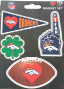 Denver Broncos 4 Pack Team Magnets