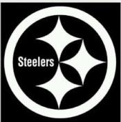 Steelers Vinyl White Sticker 10 x 10