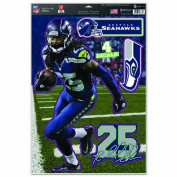 NFL Seattle Seahawks Richard Sherman Multi-Use Decal Sheet, 28cm x 43cm , Team Colour