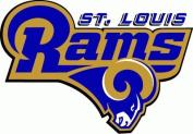 St. Louis Rams NFL Football Decal Bumper Sticker 13cm x 10cm