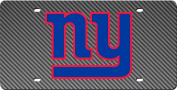 New York Giants CARBON fibre Design Deluxe Laser Cut Licence Plate Tag Football