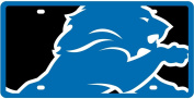 Detroit Lions Printed MEGA Style Deluxe Laser Acrylic Licence Plate Tag Football